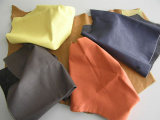 Ledermuster - leather samples